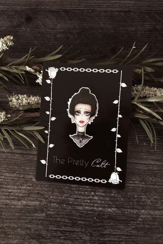 ''Season Of The Witch'' Round Enamel Pin