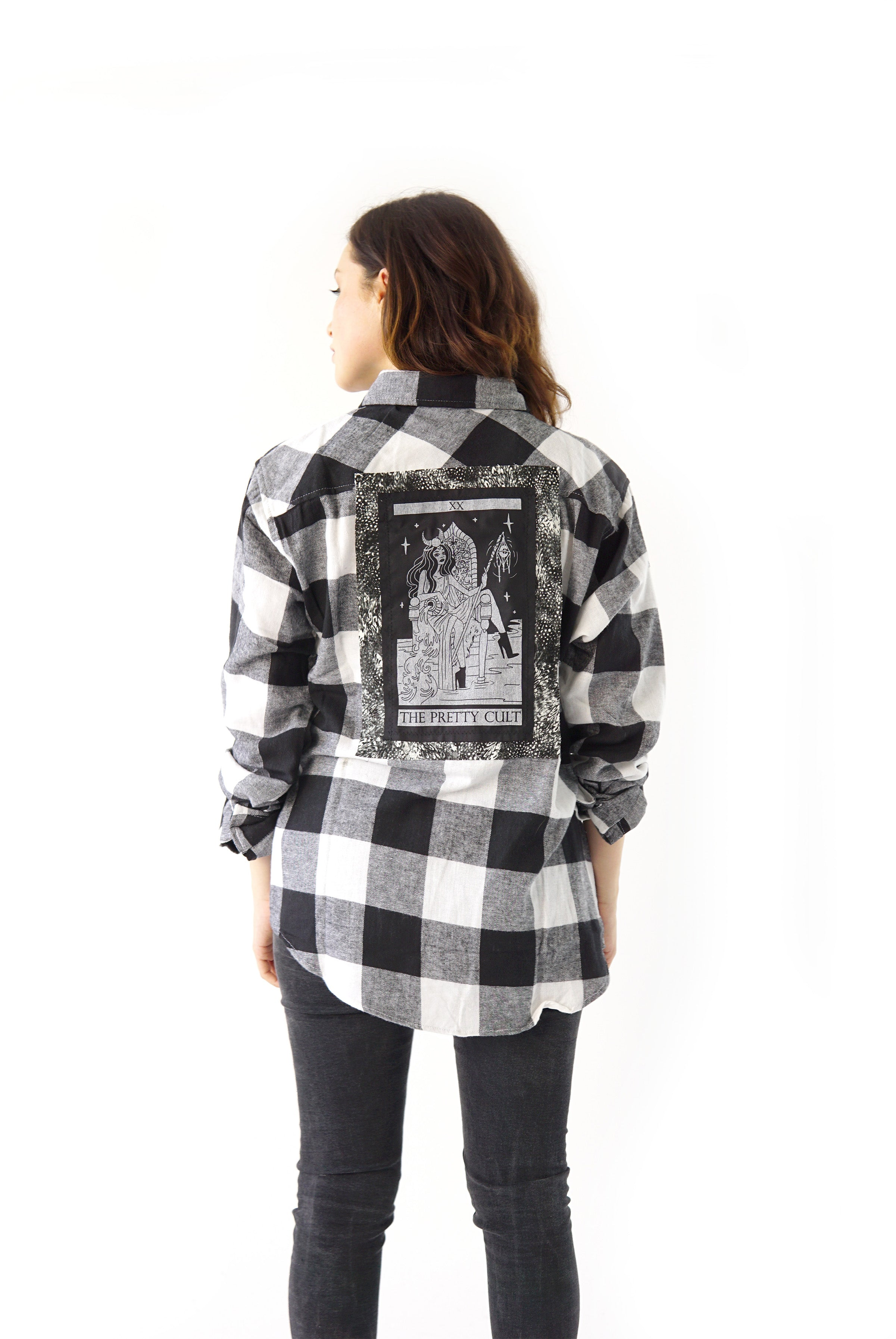 Cool Black Pretty Cult Tarot Flannel