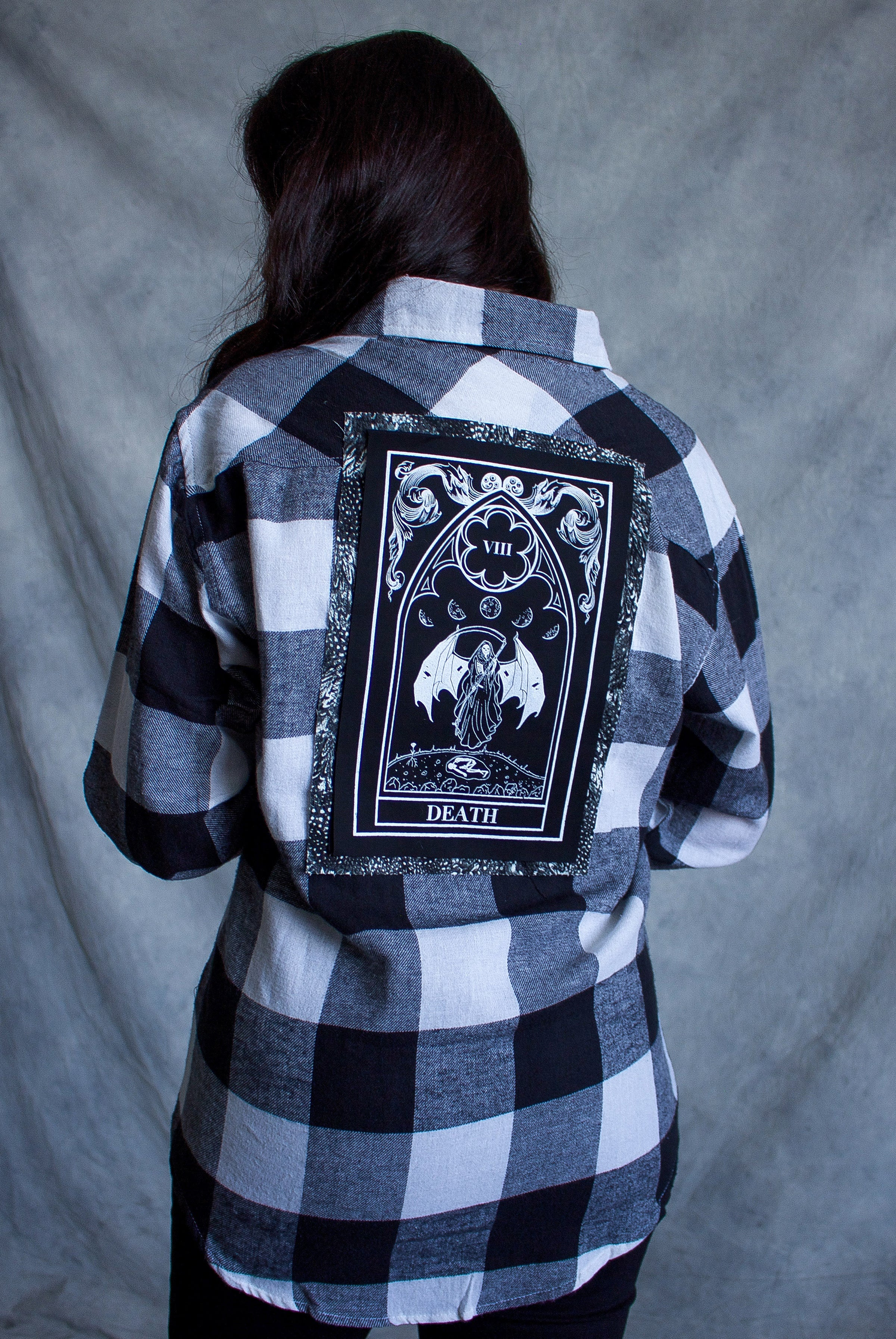 ''Death'' Long-Sleeve Button Down Flannel