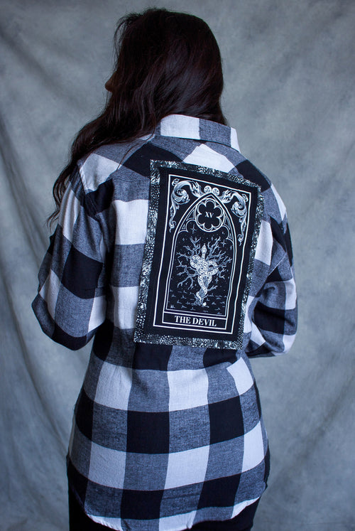 ''Devil'' Long-Sleeve Button Down Flannel