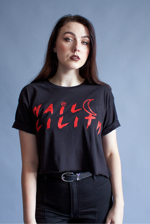 """Hail Lilith"" Crop Top"