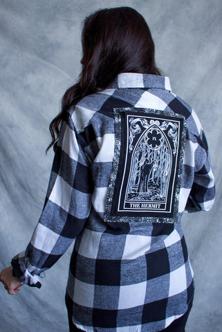 ''Kill You'' Long-Sleeve Button Down Flannel