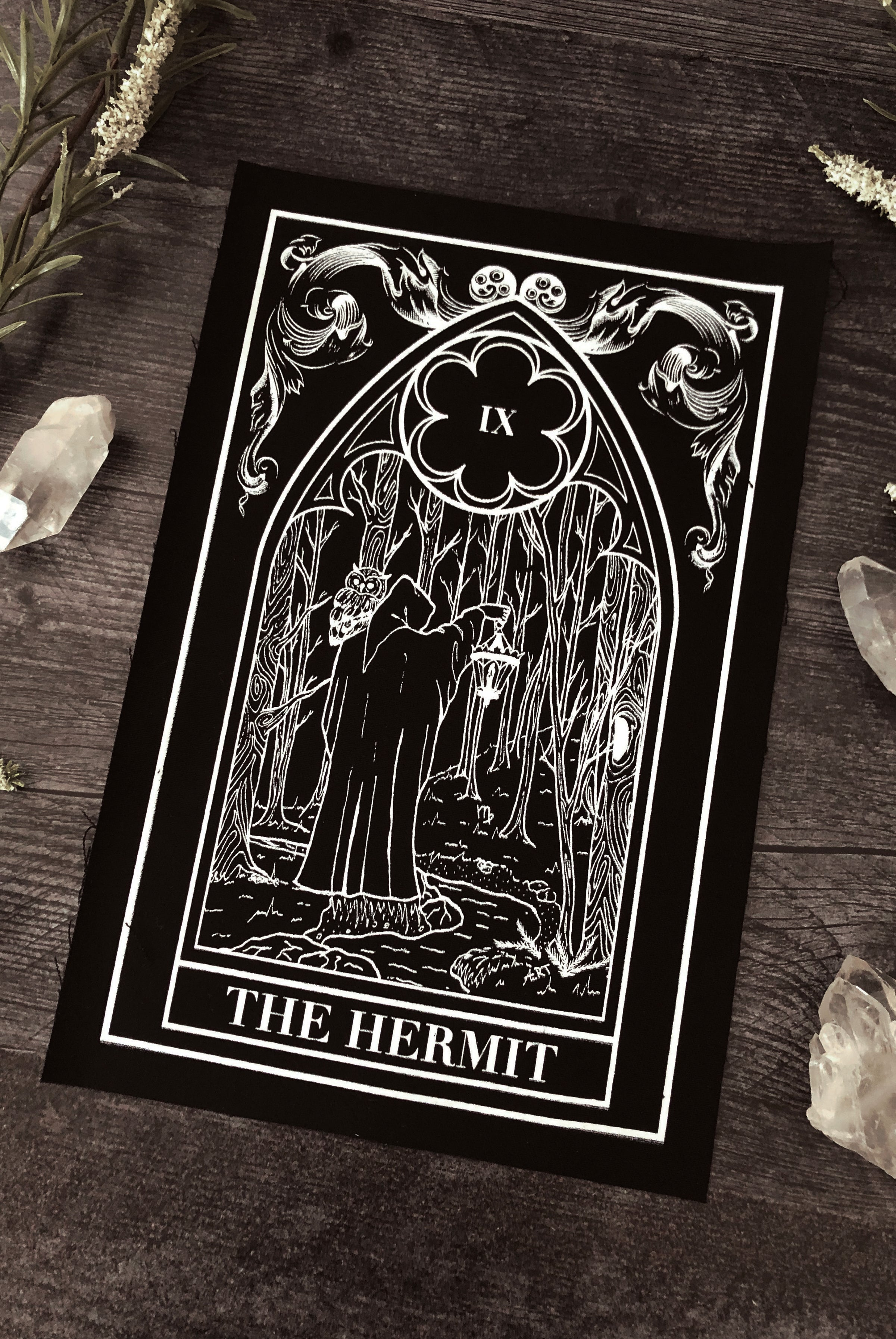 """The Hermit"" Tarot Card Back Patch"