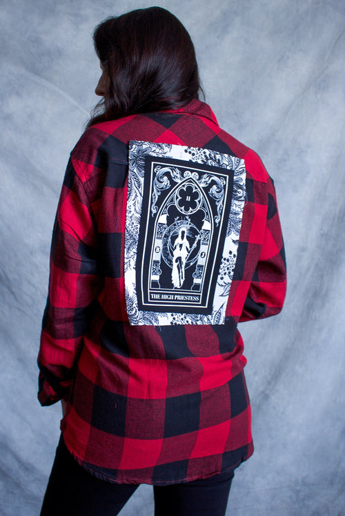 ''The High Priestess'' Long-Sleeve Button Down Flannel