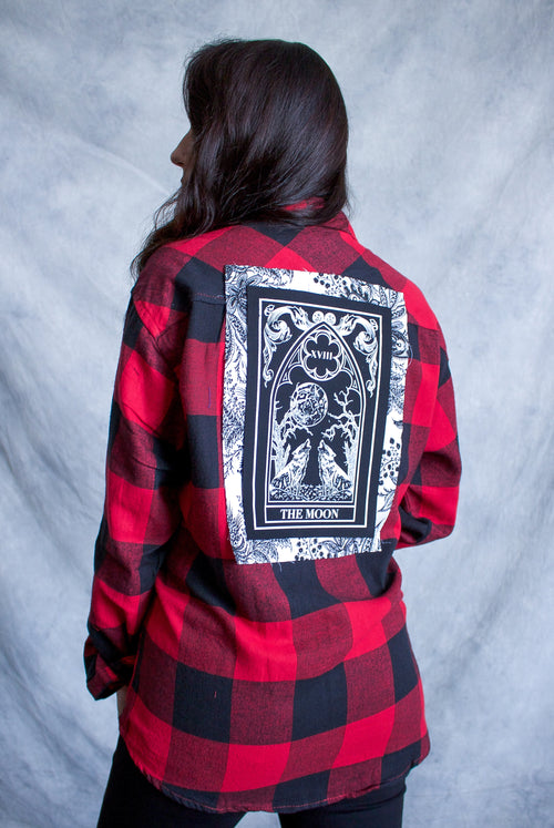 ''The Moon'' Long-Sleeve Button Down Flannel