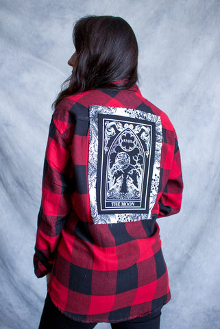 """The High Priestess'' Long-Sleeve Button Down Flannel"