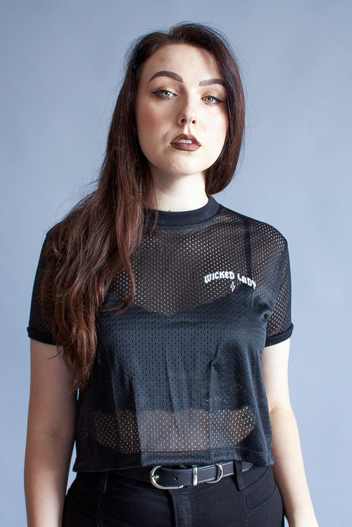 ''Wicked Lady'' Mesh Crop Top