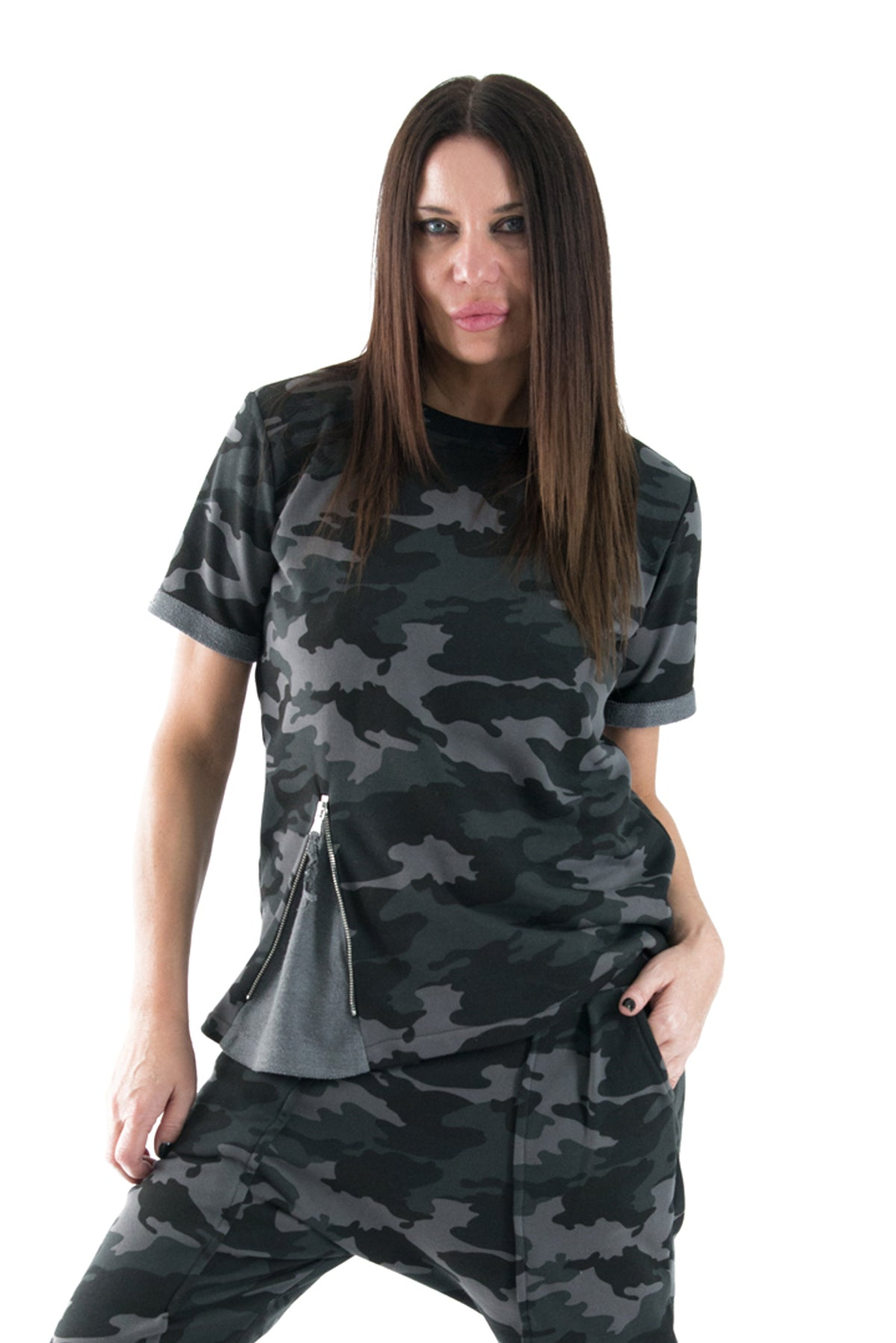 Camouflage Top, Como Cotton T-shirt, Tops & Tunics