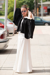Black and White Hooded Summer Vest