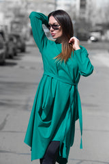 Autumn Green Wool Cashmere Dress, Dresses & Maxi Dresses