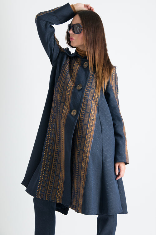 Autumn Jacquard Elegant Trench Coat, Coats