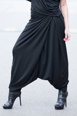 Black Woman Harem Pants, Pants & Leggings