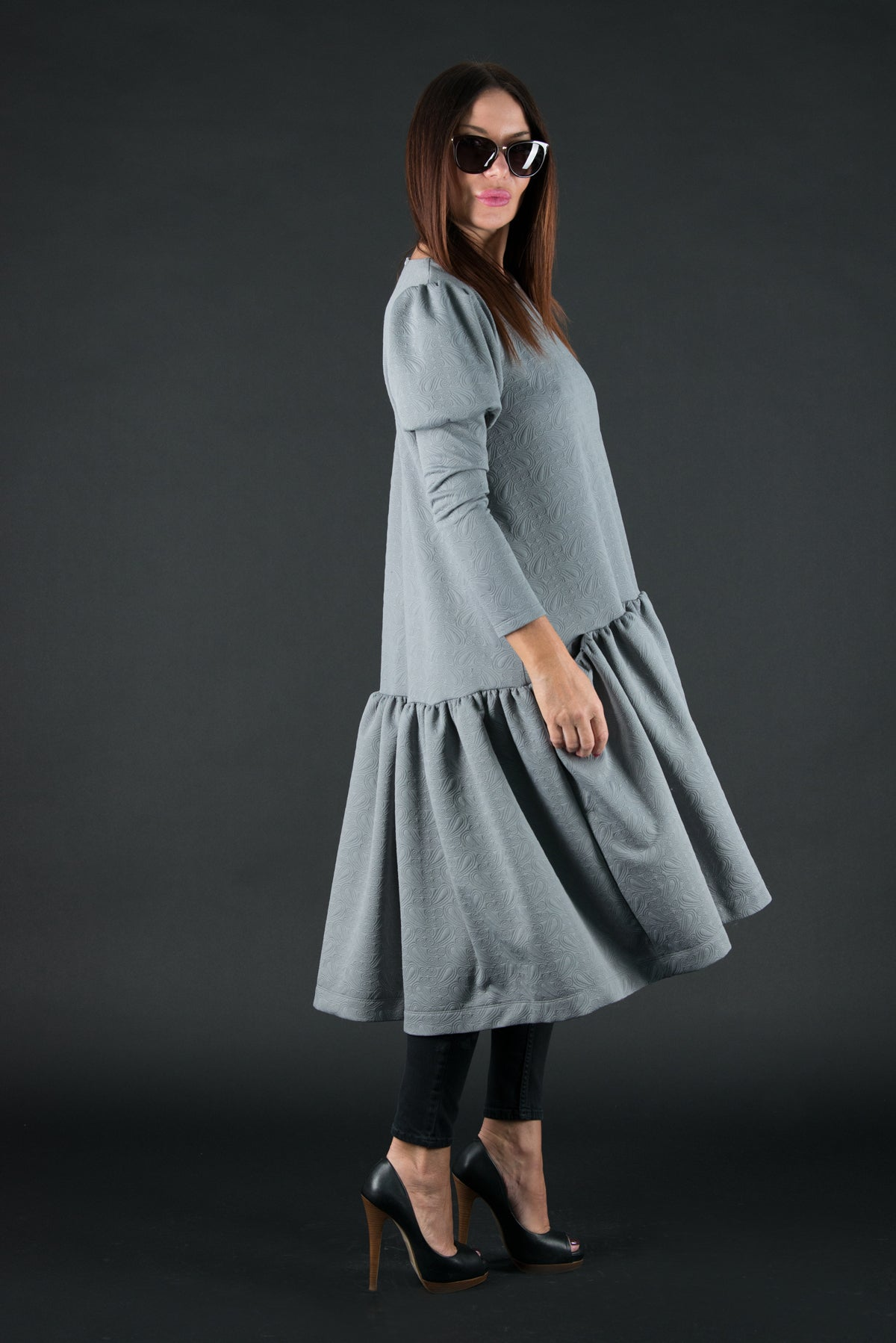 Grey Neoprene Dress, Dresses & Maxi Dresses