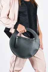 Black Genuine Leather Clutch Hand Bag, Evening Leather Bag - EUG FASHION