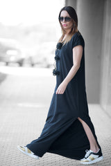 Black Summer Maxi Dress, Dresses Spring & Summer