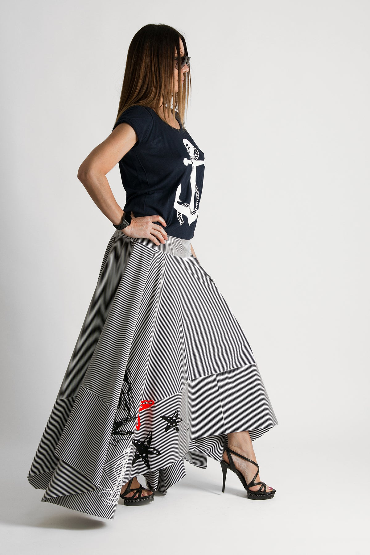 Two pieces Set, Cotton Skirt with Top with print - EUG FASHION