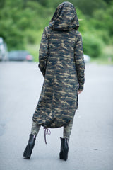 Military Hooded Vest, Camouflage Long Vest, Hoodies & Sweaters