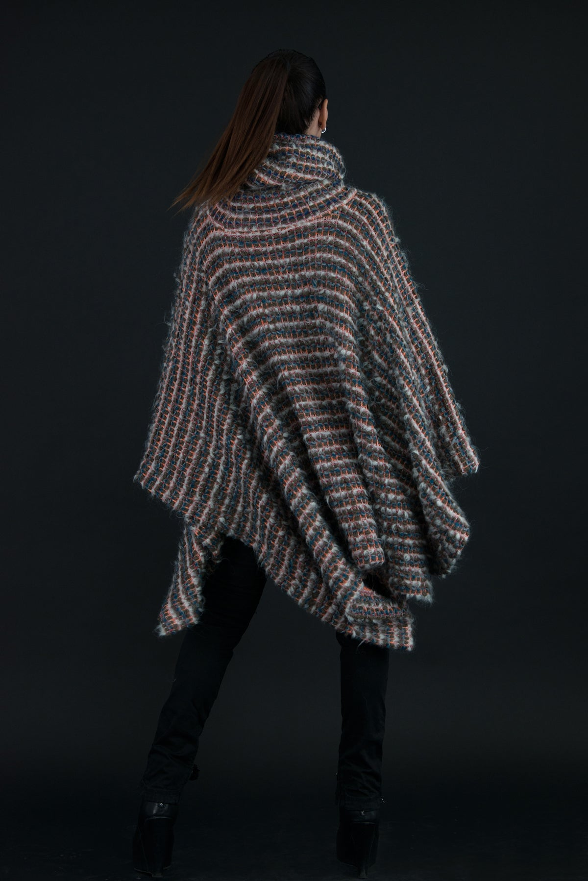 Autumn PONCHO, Winter Wool TURTLENECK top