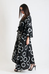 Black and White Dots Maxi Summer Dress