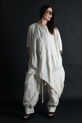 Natural Linen Top, Plus size Linen Tunic - EUG FASHION