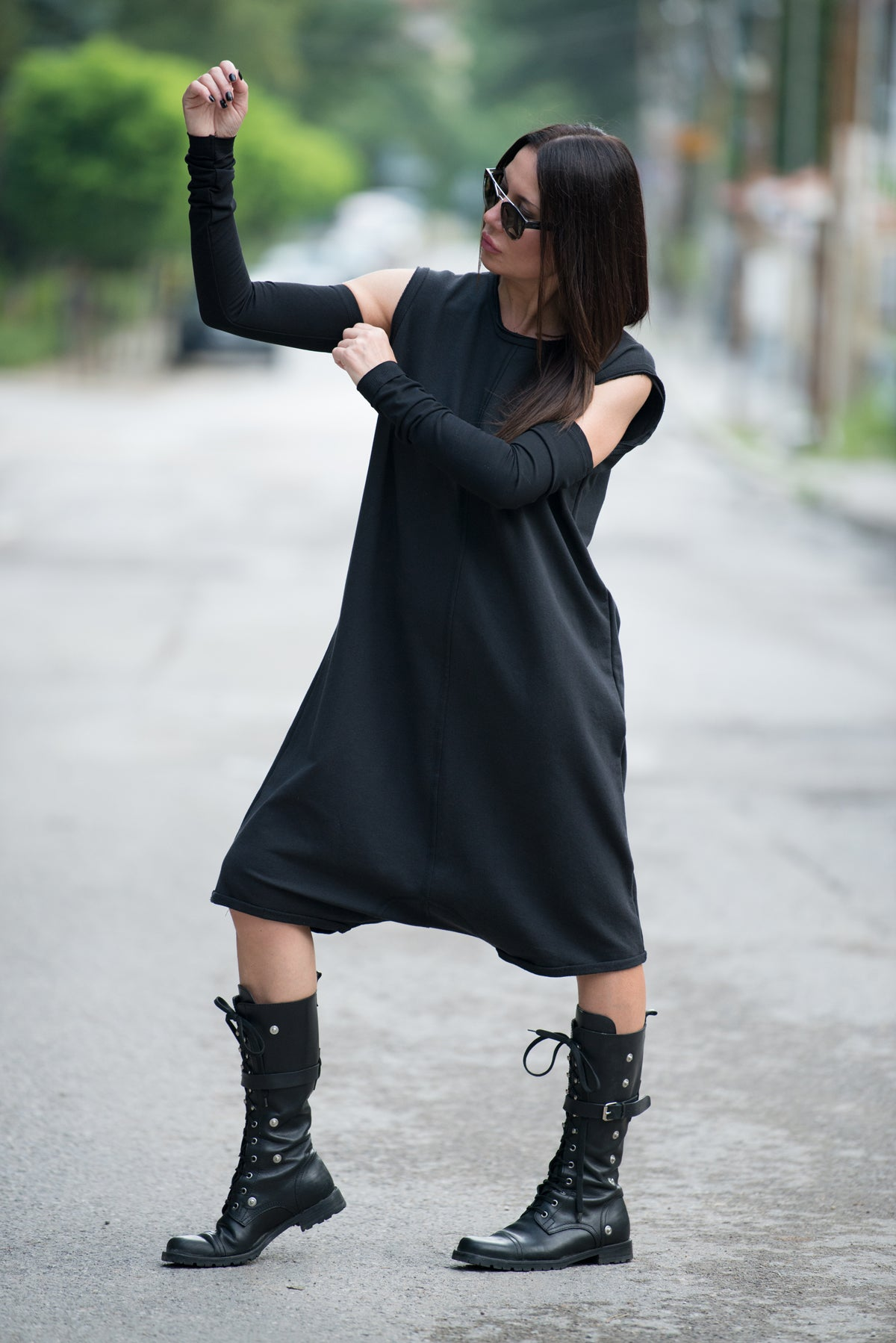 Urban Black Harem Short Jumpsuit, Jumpsuits & Rompers