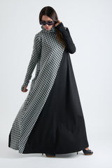 Black and White Turtleneck Long Maxi Dress, Dresses & Maxi Dresses