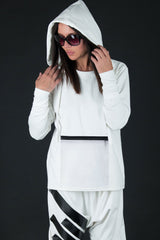 White outfit, Hoodie for Woman with pants