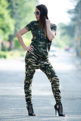 Camouflage Woman cotton printed tshirt, Tops & Tunics