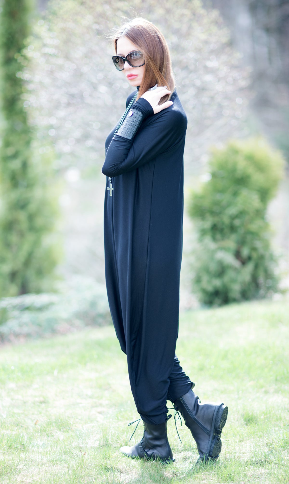 Hijab Plus Size Jumpsuit, Abaya Jumpsuit, Cotton Jumsuit, Haute Couture, Muslim Dress
