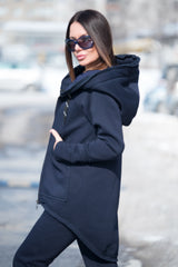 Dark Blue Hooded Sports set, Elegant & Sport Sets