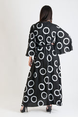 Black and White Dots Maxi Summer Dress, New Arrival