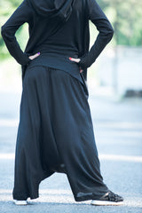 Cotton Harem Pants With Unique Urban Style, Pants & Leggings