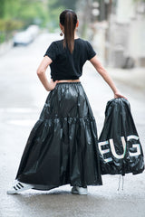 Black Stylish Skirt for Summer, Skirts
