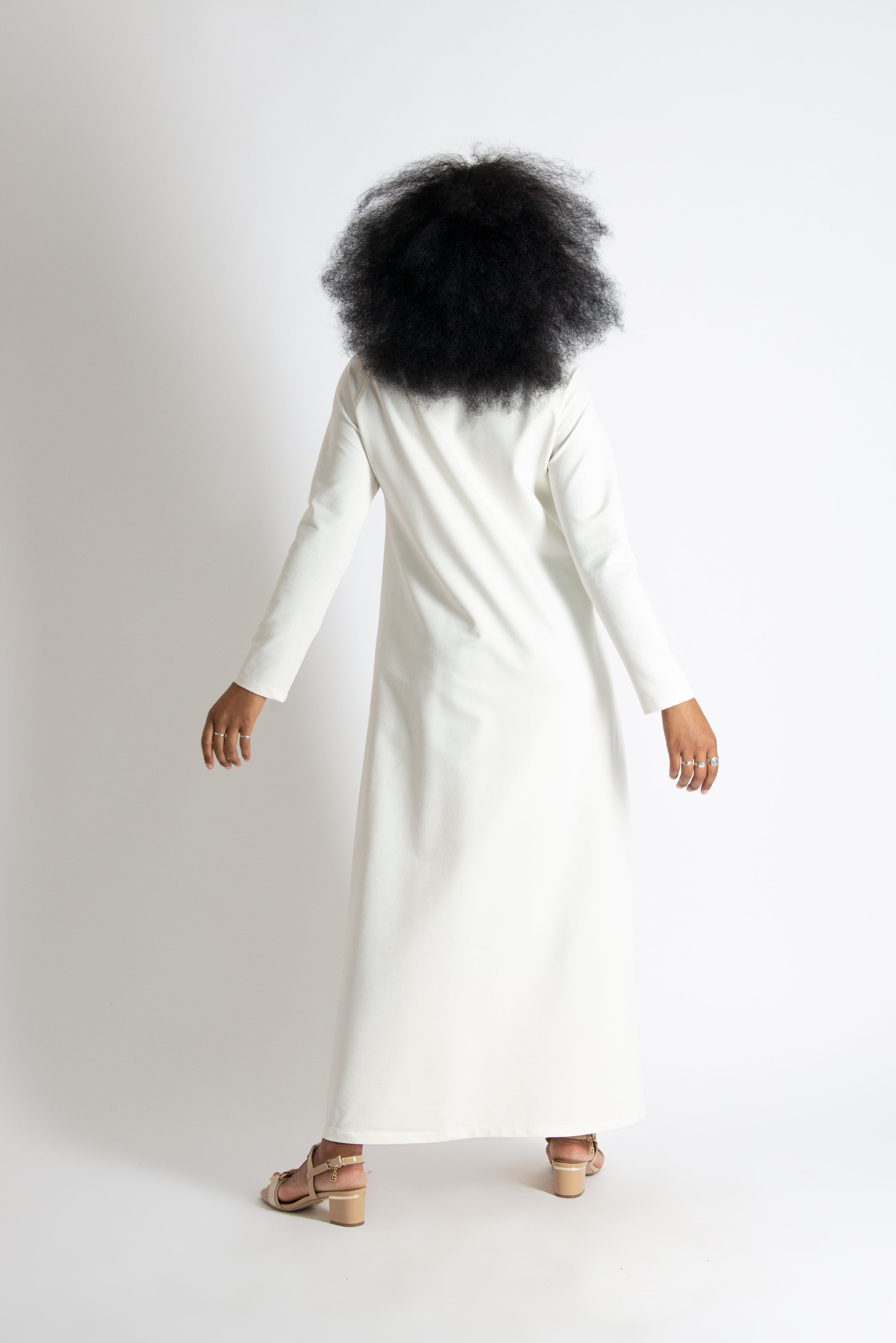 Winter Off White Cotton dress