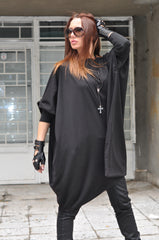 Black Maxi Cotton Tunic