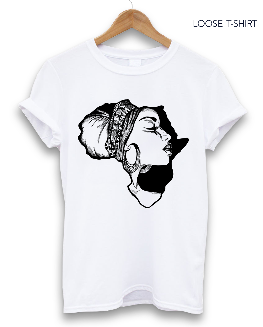 African Map Cotton Print T-shirt, T-shirts