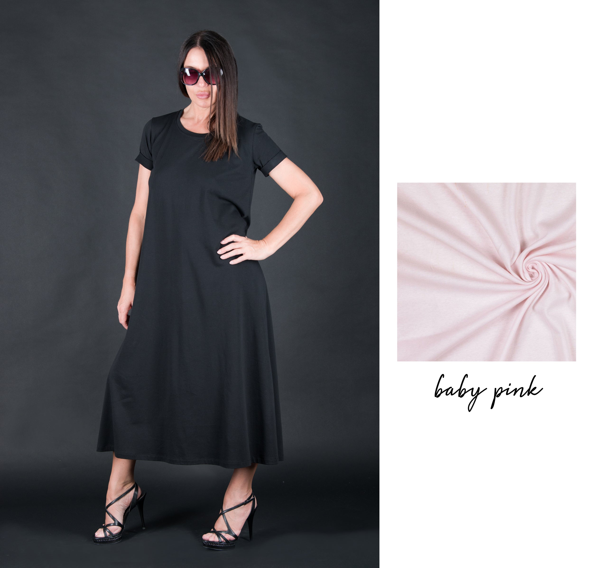 Black Summer Cotton Dress