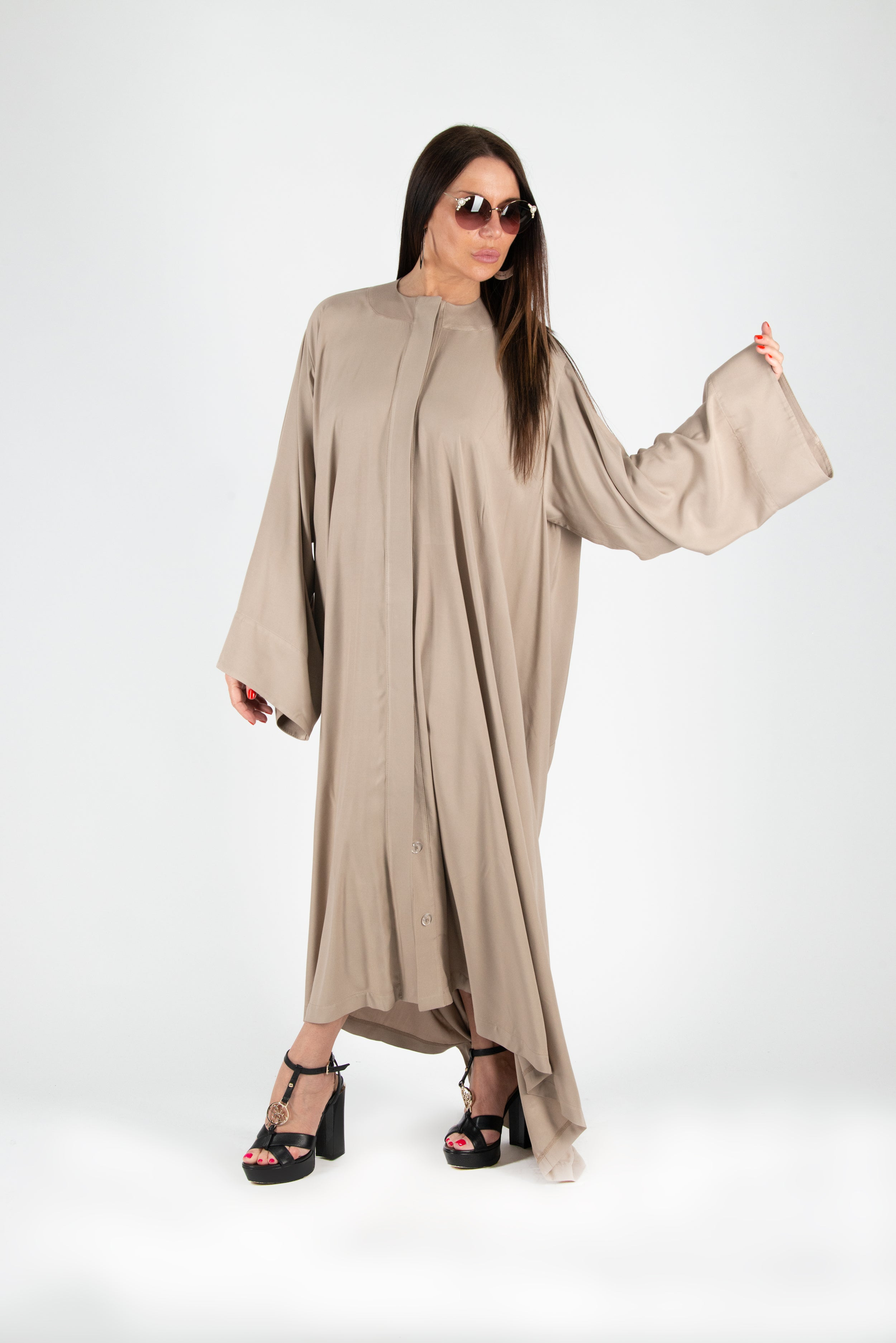 Beige Cotton Kaftan, New Arrival