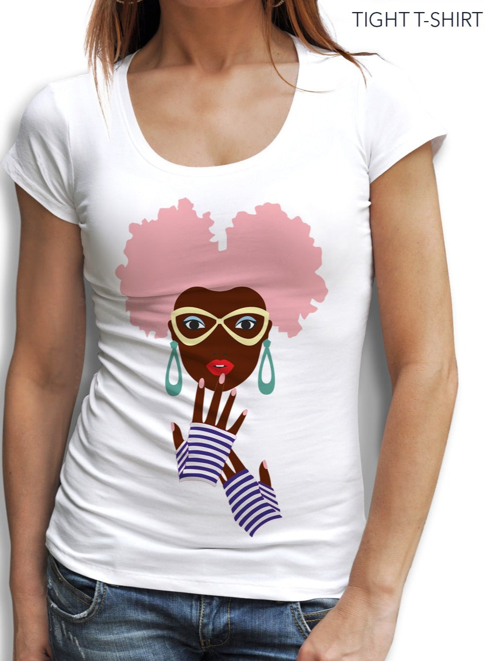 African Cotton Painted Print T-shirt - EUG FASHION