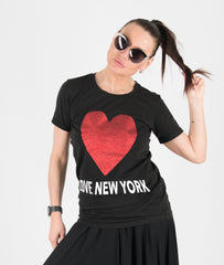 Black Two pieces Jersey Outfit tshirt and skirt