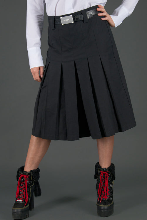 Wide Cotton Skirt Pants