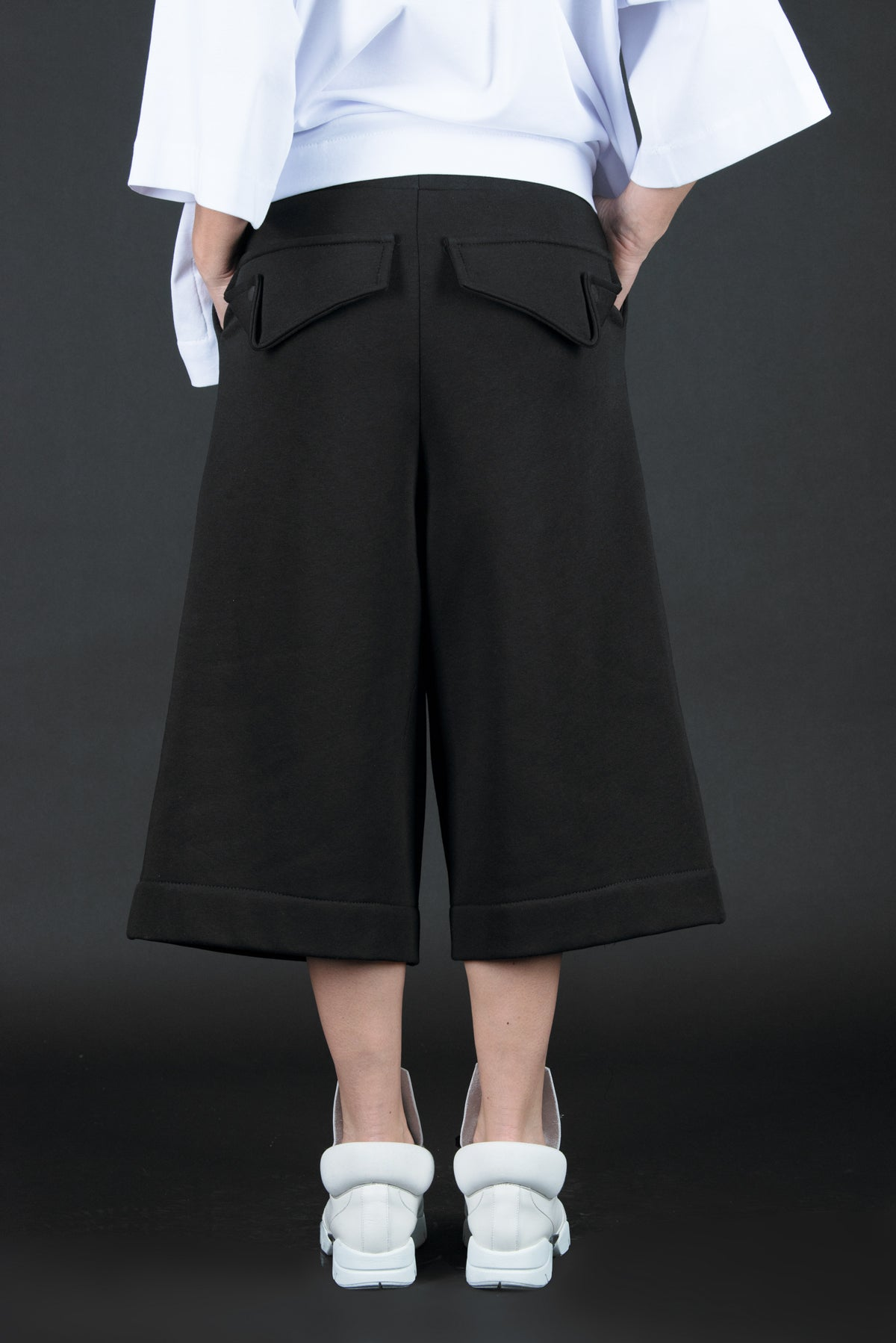 Black Women Wide Terry Pants, Pants & Leggings