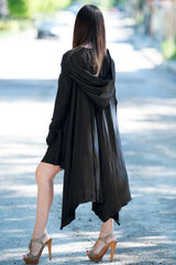 Hooded Black Tunic