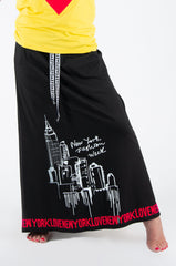Printed Black skirt with pockets, New Arrival