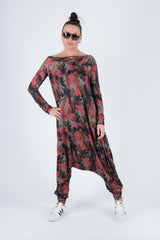 Military Red  Harem Women Jumpsuit, New Arrival