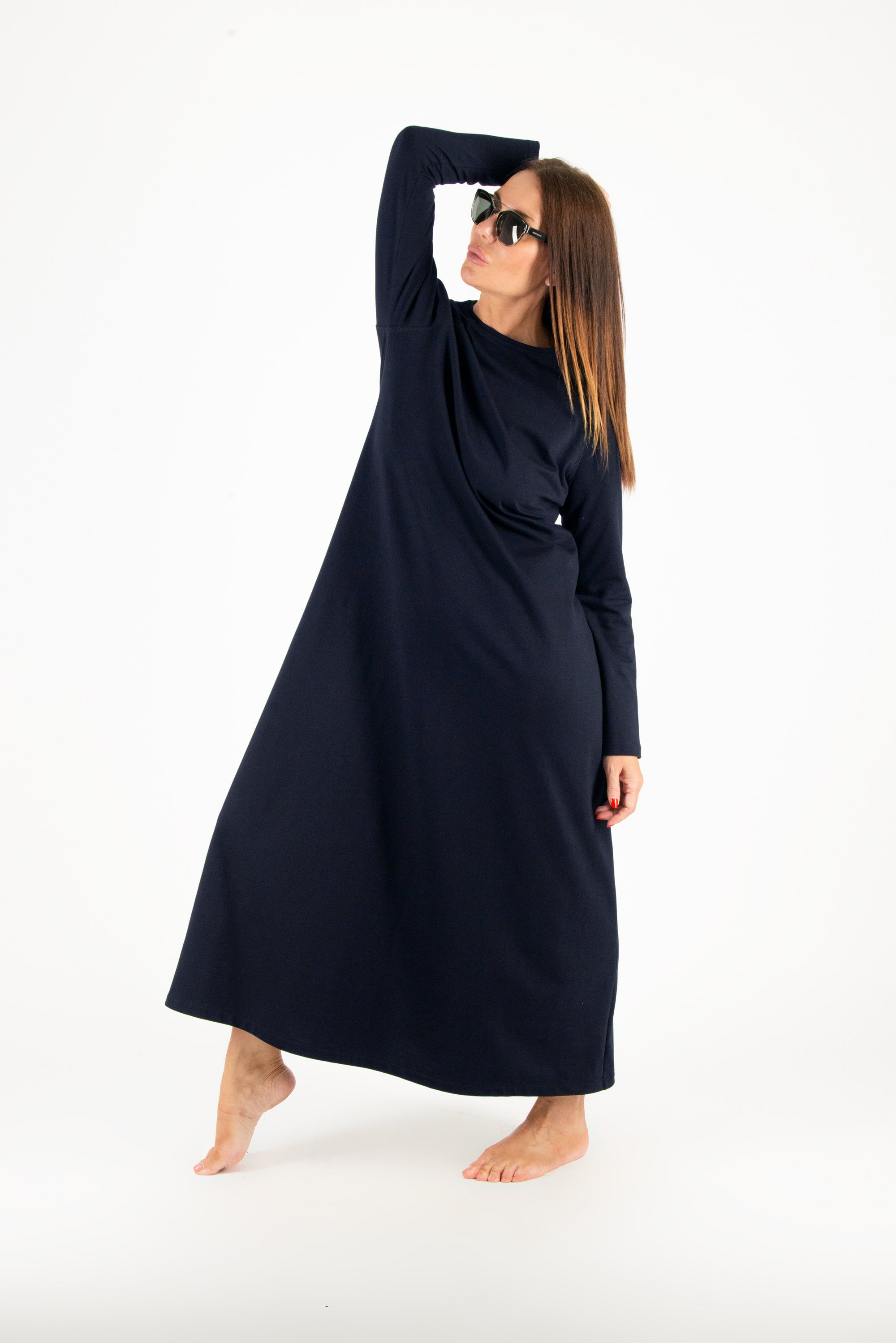 Winter Black Cotton dress