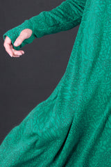 Green A line Turtleneck Maxi Dress, Dresses & Maxi Dresses