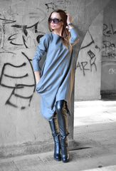 Autumn Winter Grey Cashmere Dress