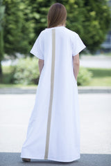 White Cotton Maxi Dress, Dresses Spring & Summer