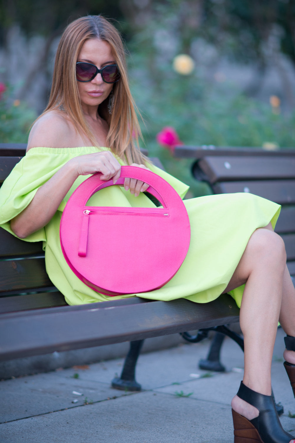 Clutch purse, Pink Genuine Leather Clutch Hand Bag, High Quality Italian Clutch Purse, Borsa bella